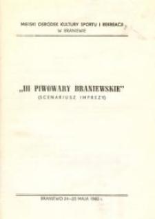 III Piwowary Braniewskie - scenariusz imprezy - informator