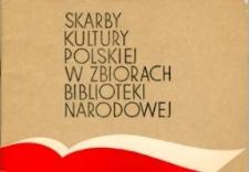 Skarby Kultury Polskiej w Zbiorach Biblioteki Narodowej w Warszawie - informator