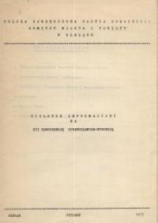 PZPR – biuletyn informacyjny na XVI Konferencję Sprawozdawczo-Wyborczą (projekt)