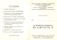 """""""Dni Olimpijczyka 77"""" – zaproszenie"""