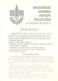 Wojewódzki Ośrodek Postępu Rolniczego w Starym Polu - Przydomowy chów królików - broszura
