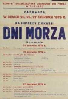 Dni Morza Program Obchodów w Elblągu w 1976 r. - afisz