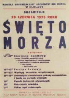Święto Morza Program Obchodów w Elblągu w 1975 r. - afisz