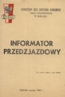 PRON – informator przedzjazdowy