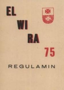 """Regulamin II Ogólnopolskiego Rajdu Młodzieżowego po Wysoczyźnie Elbląskiej """"Elwira"""" 1975 - broszura"""