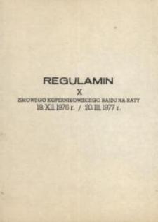 Regulamin X Zimowego Kopernikowskiego Rajdu na raty – broszura