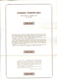 X Dekada Pisarzy Wybrzeża: 1979 r.: Andrzej Perepeczko