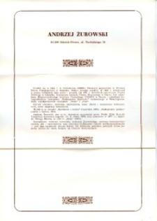 X Dekada Pisarzy Wybrzeża: 1979 r.: Andrzej Żurowski