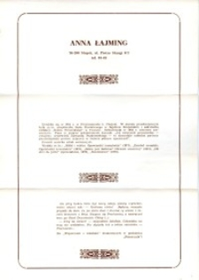 X Dekada Pisarzy Wybrzeża: 1979 r.: Anna Łajming
