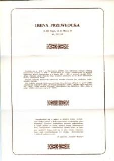 X Dekada Pisarzy Wybrzeża: 1979 r.: Irena Przewłocka