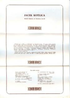X Dekada Pisarzy Wybrzeża: 1979 r.: Jacek Kotlica
