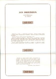 X Dekada Pisarzy Wybrzeża: 1979 r.: Jan Drzeżdżon