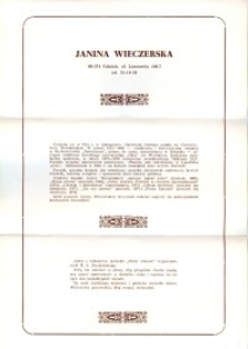X Dekada Pisarzy Wybrzeża: 1979 r.: Janina Wieczerska