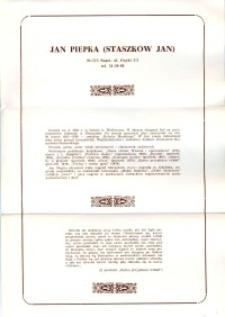 X Dekada Pisarzy Wybrzeża: 1979 r.: Jan Piepka (Staszków Jan)