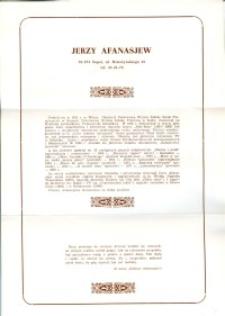 X Dekada Pisarzy Wybrzeża: 1979 r.: Jerzy Afanasjew