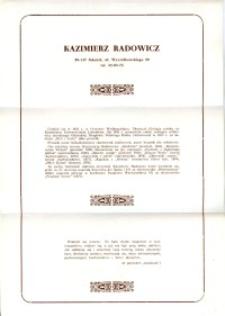 X Dekada Pisarzy Wybrzeża: 1979 r.: Kazimierz Radowicz