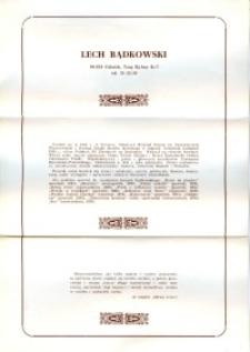 X Dekada Pisarzy Wybrzeża: 1979 r.: Lech Bądkowski