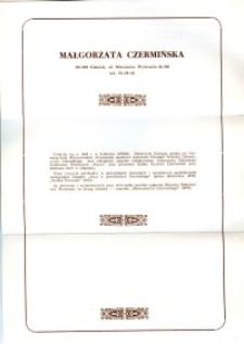 X Dekada Pisarzy Wybrzeża: 1979 r.: Małgorzata Czermińska