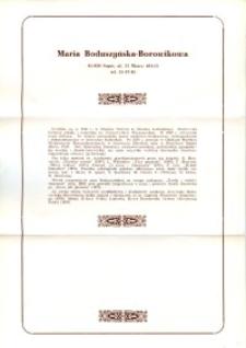 X Dekada Pisarzy Wybrzeża: 1979 r.: Maria Boduszyńska-Borowikowa