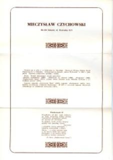 X Dekada Pisarzy Wybrzeża: 1979 r.: Mieczysław Czychowski