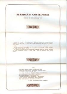 X Dekada Pisarzy Wybrzeża: 1979 r.: Stanisław Gostkowski