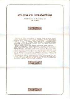 X Dekada Pisarzy Wybrzeża: 1979 r.: Stanisław Hebanowski