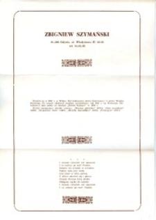 X Dekada Pisarzy Wybrzeża: 1979 r.: Zbigniew Szymański