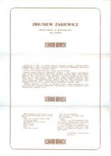 X Dekada Pisarzy Wybrzeża: 1979 r.: Zbigniew Żakiewicz