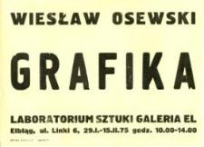 Wiesław Osewski - Wystawa Grafiki w Laboratorium Sztuki Galerii El - afisz I