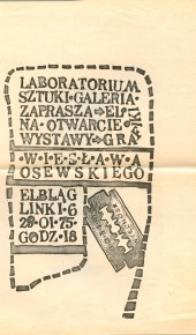 Wiesław Osewski - Wystawa Grafiki w Laboratorium Sztuki Galerii El - afisz II
