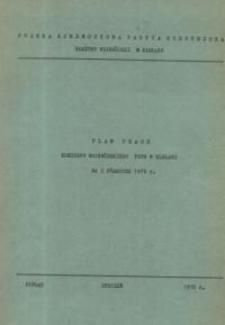 Plan pracy KW PZPR w Elblągu na I półrocze 1976 r. – biuletyn