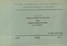 Plan realizacji Uchwały VII Zjazdu PZPR przez elbląską organizację partyjną na lata 1976-1977 - broszura