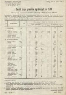 Cennik skupu produktów ogrodniczych nr 7 / 80 – ulotka