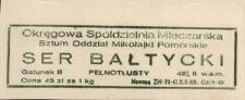 Ser Bałtycki (gatunek II) – etykieta towarowa zastępcza