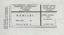 Kamilki - etykieta towarowa zastępcza