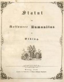 Statut der Ressource Humanitas in Elbing