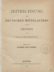 Zeitrechnung des deutschen Mittelalters und der Neuzeit. T. 1