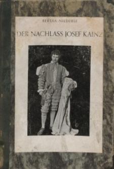 Der Nachlass Josef Kainz