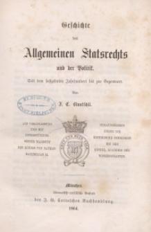 Geschichte des Allgemeines Statsrechts und der Politik. Bd. 1