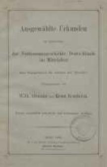 Ausgewählte Urkunden zur Erläuterung der Verfassungsgeschichte Deutschlands im Mittelalter…
