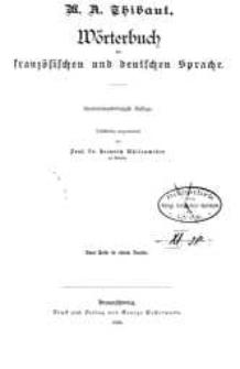 Wörterbuch der französischen und deutschen Sprache. Wyd.141. Bd. 1-2
