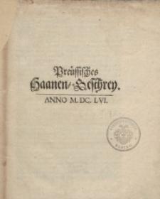 Preussisches Haanen-Geschrey