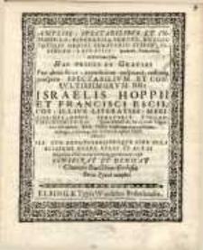 Ampliss: spectabilibus et integerr: DD Burggravio Praecos et Cos totique Ordini, Senatorio Reipub. Elbingen…