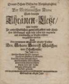 Trauer-Schau-Bühne der Vergänglichkeit oder der Brittannischen Krone Leid-benetzte Thränen-Leße...