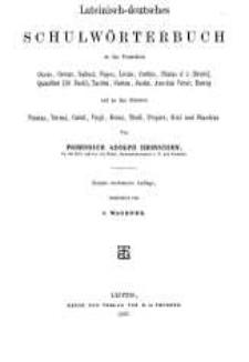 Lateinisch-deutsches Schulwörterbuch