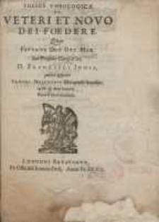 Theses theologicae de veteri et novo dei foedere, quas...