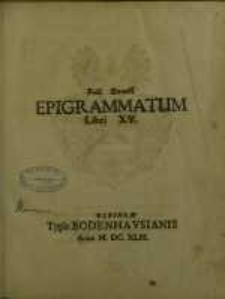 Epigrammatum Libri XV
