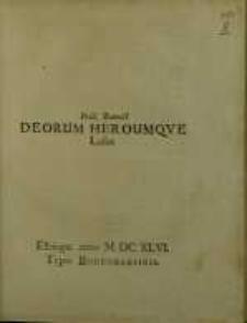 Deorum Heroumque Lusus