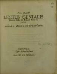 Lectus Genialis Thomae Hesii & Barbarae Brauniae, positus
