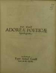Adoreae Poeticae spicilegium